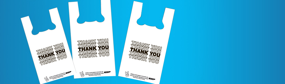 Custom Printed Plastic Shopping Bags Available | Ans Plastics Corp