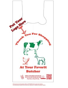 butcher and plastic meat bags