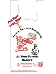 custom printed bakery plastic bags