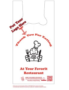 custom printed restaurant and dinner plastic bags