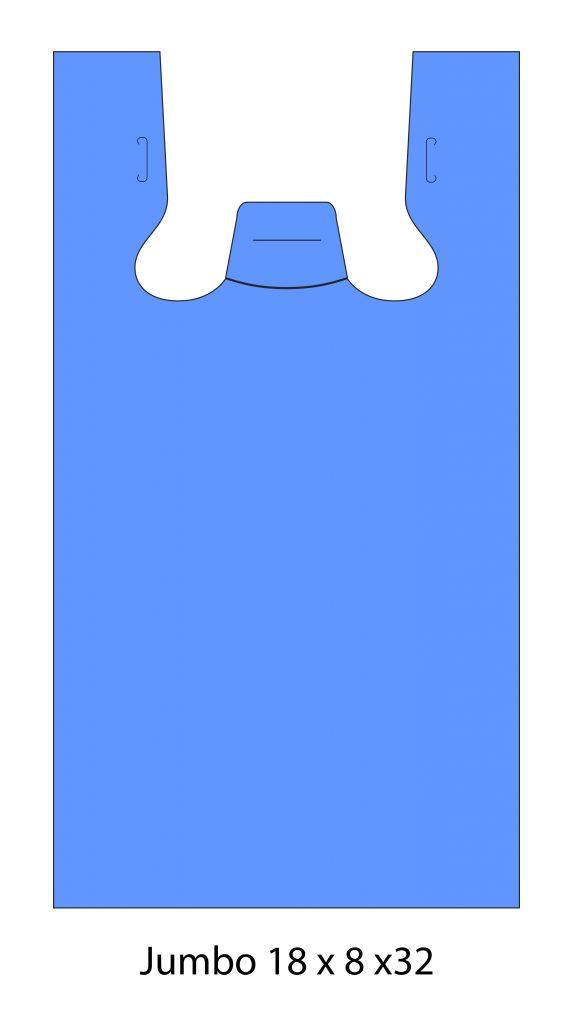 Plain Blue Bags