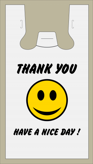 Thank You bags with smile logo